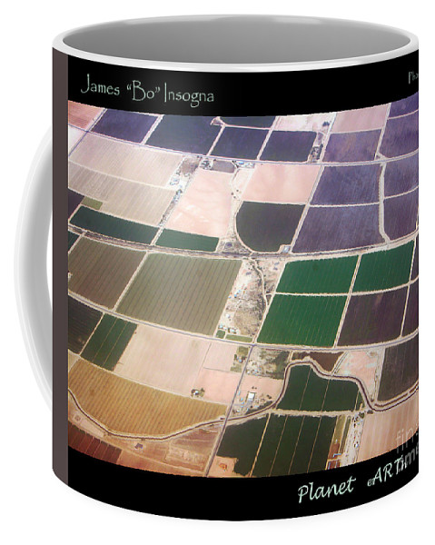 Aerial Coffee Mug featuring the photograph Planet Art Number 4 by James BO Insogna