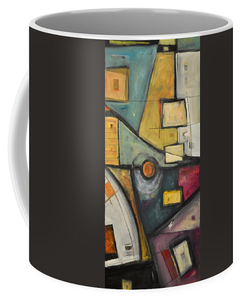 Planet Coffee Mug featuring the painting Planet Dada by Tim Nyberg
