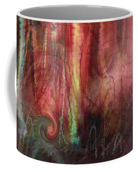 Digital Art Coffee Mug featuring the digital art Planet Dance by Linda Sannuti
