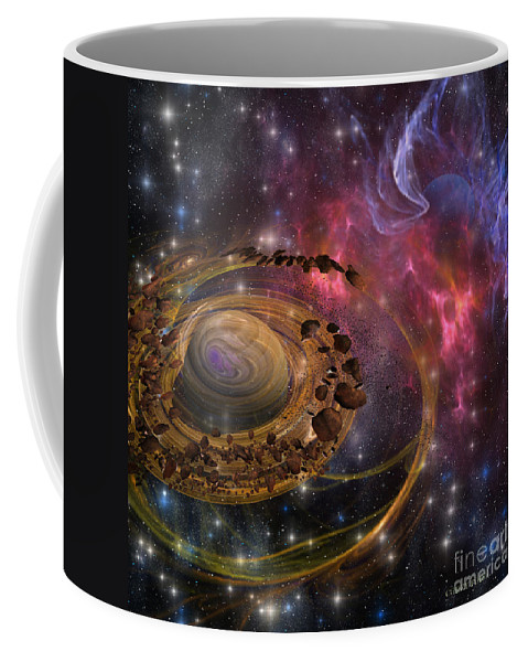 Formation Coffee Mug featuring the painting Planet Formation by Corey Ford