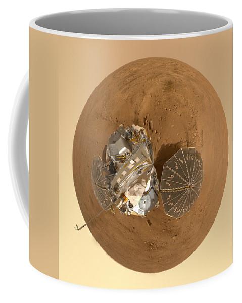 Mars Coffee Mug featuring the photograph Planet Mars Via Phoenix Mars Lander by Nikki Marie Smith