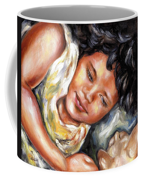Child Coffee Mug featuring the painting Play Time by Hiroko Sakai