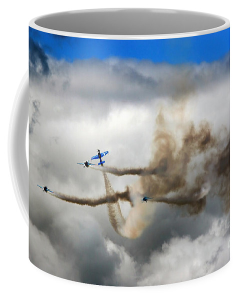 Blades Extra 300 Coffee Mug featuring the photograph Playing Beneath The Clouds by Angel Tarantella