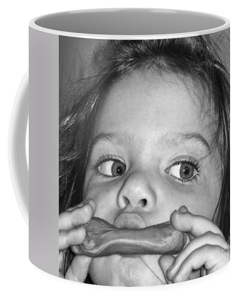 Photograph Coffee Mug featuring the photograph Playing Her Playdough by Gwyn Newcombe