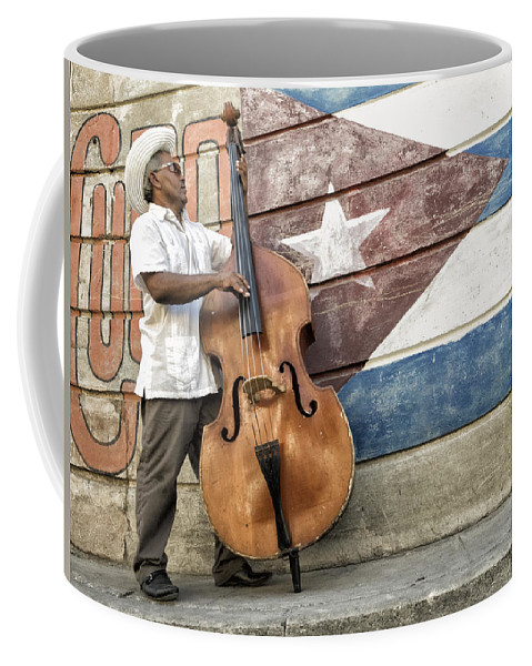 Caribbean Coffee Mug featuring the photograph Playing On The Street by Dan Leffel