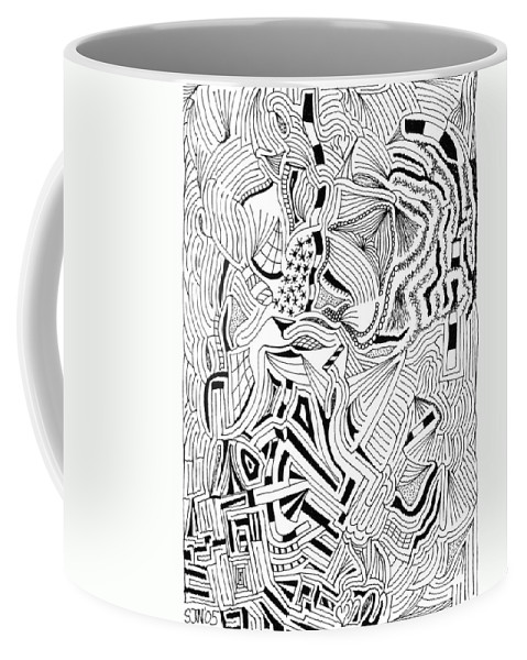 Mazes Coffee Mug featuring the drawing Playland by Steven Natanson