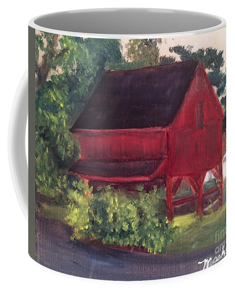 Medford Coffee Mug featuring the painting Plein Aire 7-12-16 by Sheila Mashaw