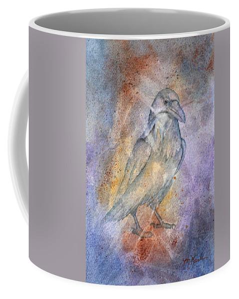 Cave Painting Coffee Mug featuring the painting Pleistocene Raven 1 by Marsha Karle