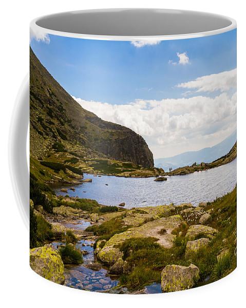 Nature Coffee Mug featuring the photograph Pleso Nad Skokom by Mirko Chianucci