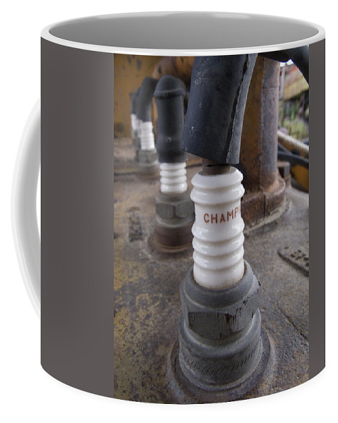 Spark Plugs Coffee Mug featuring the photograph Plugs by Jeffery Ball