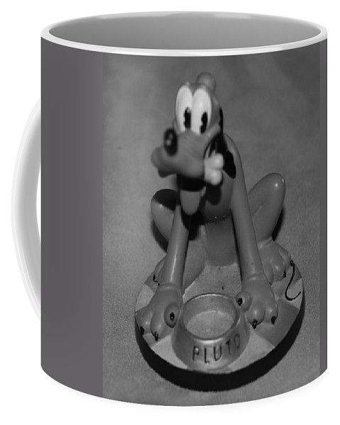 Black And White Coffee Mug featuring the photograph Pluto by Rob Hans