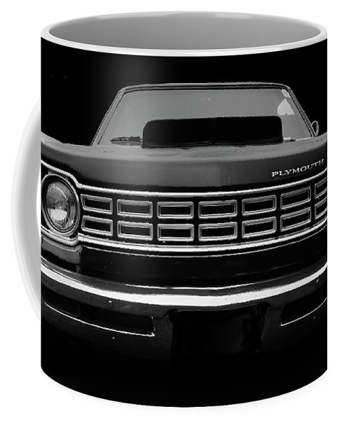 Plymouth Fury Coffee Mug featuring the photograph Plymouth Fury - Black by Philip Openshaw