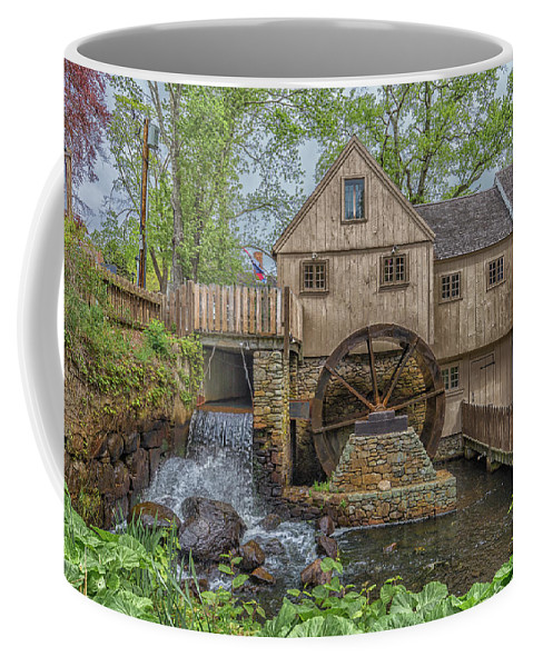 Plymouth Grist Mill Coffee Mug featuring the photograph Plymouth Grist Mill by Brian MacLean