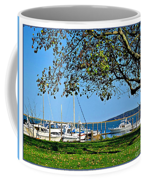 Atlantic Coffee Mug featuring the photograph Plymouth Harbor by Joan Minchak