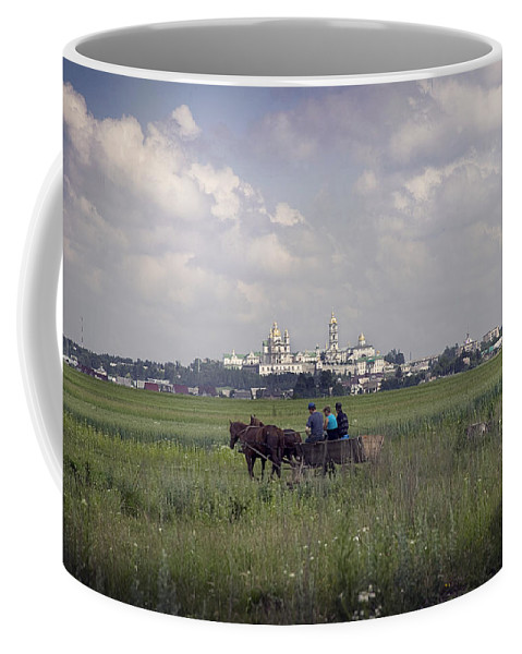 Ukraine Coffee Mug featuring the photograph Pochaiv Monastery Ukraine by Yuri Lev