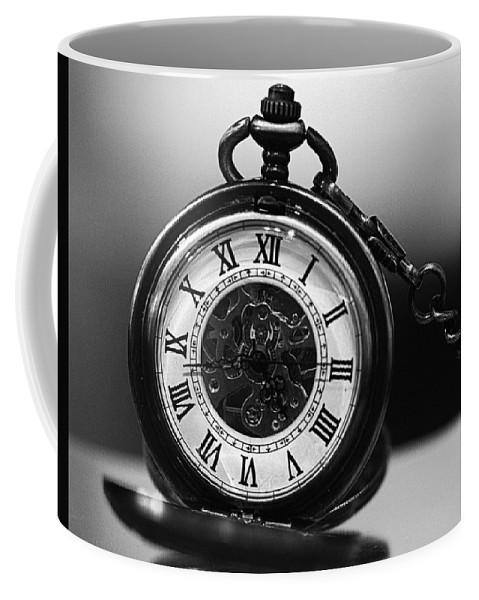3f9c1aa5b Pocket Watch Coffee Mug featuring the photograph Pocket Watch - Black And  White by Joseph Skompski