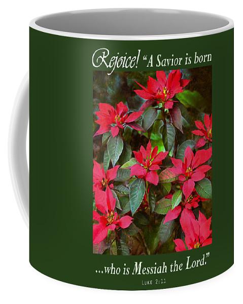Greeting Card Coffee Mug featuring the photograph Poinsettia Christmas by Brian Tada