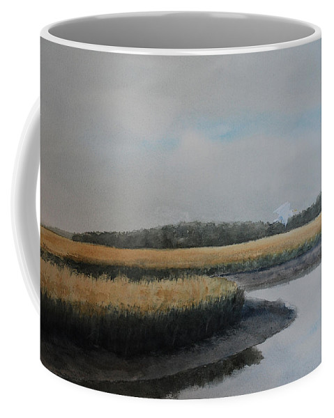 Marsh Coffee Mug featuring the painting Point Comfort by Stanton Allaben