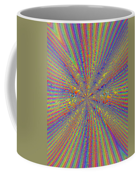 Abstract Coffee Mug featuring the digital art Point Counter Point by Tim Allen