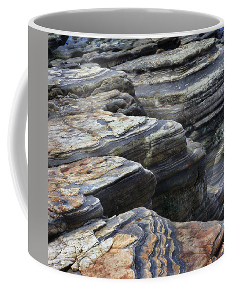 Point Coffee Mug featuring the photograph Point Lobos Rocks 2 by Bob Neiman