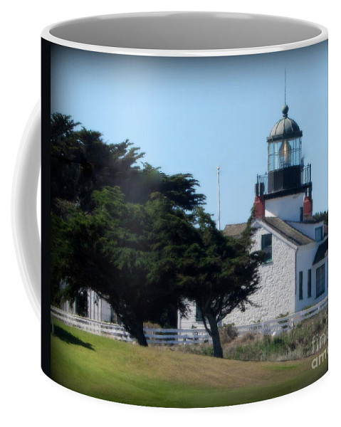 Lighthouse Coffee Mug featuring the photograph Point Pinos Lighthouse In Pacific Grove, California by Joy Patzner