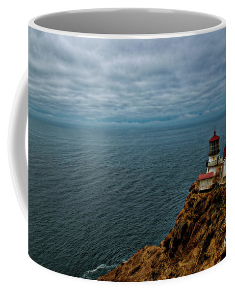 Lighthouse Coffee Mug featuring the photograph Point Reyes Lighthouse by David Arment