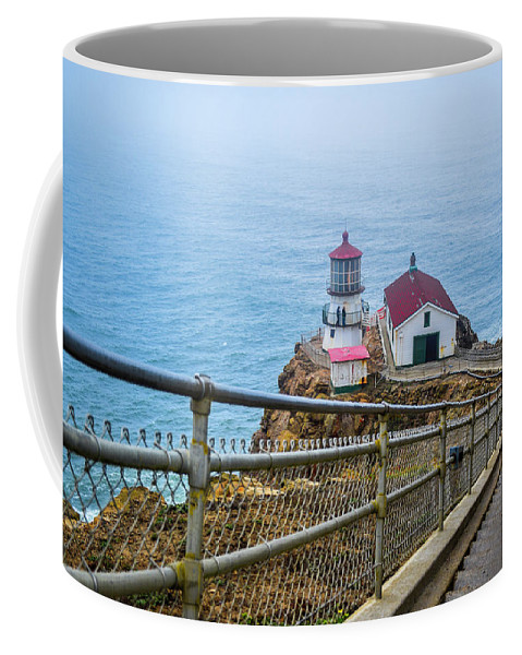 Point Reyes Coffee Mug featuring the photograph Point Reyes Lighthouse by Mason del Rosario