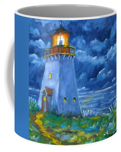 Art Coffee Mug featuring the painting Pointe Bonaventure by Richard T Pranke