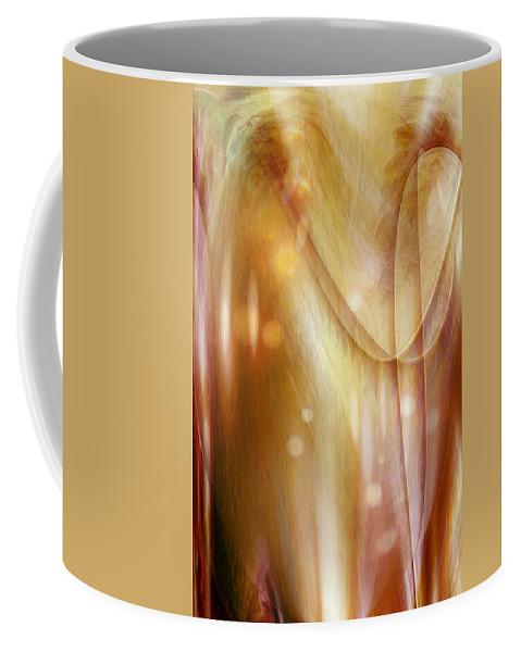 Abstract Art Coffee Mug featuring the digital art Points Of Light by Linda Sannuti