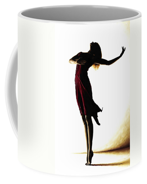 Ballet Coffee Mug featuring the painting Poise In Silhouette by Richard Young