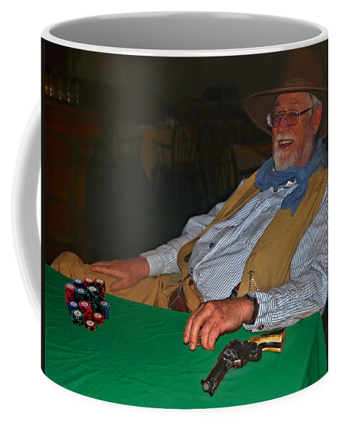 Silverton Coffee Mug featuring the photograph Poker Player by Laura Ragland