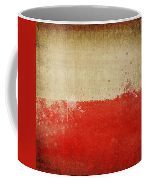 Chalk Coffee Mug featuring the photograph Poland Flag by Setsiri Silapasuwanchai