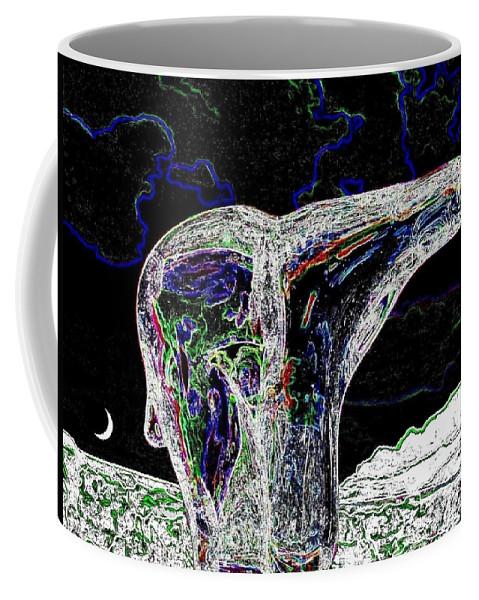 Abstract Coffee Mug featuring the digital art Polar Bear by Will Borden