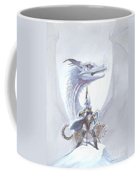 Dragon Coffee Mug featuring the painting Polar Princess by Stanley Morrison