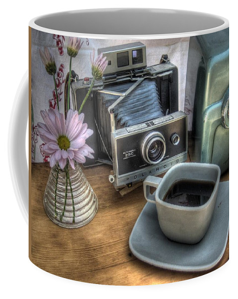 Hygge Coffee Mug featuring the photograph Polaroid Perceptions by Jane Linders