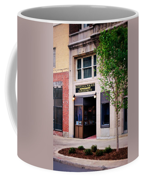 Fine Art Coffee Mug featuring the photograph Police Department by Rodney Lee Williams