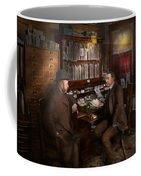 Self Coffee Mug featuring the photograph Police - The Private Eye - 1902 by Mike Savad