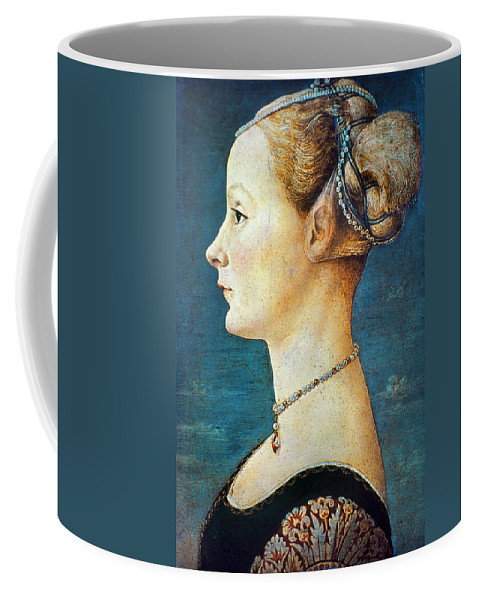 15th Century Coffee Mug featuring the photograph Pollaiuolo: Young Woman by Granger