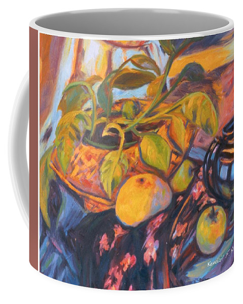 Still Life Coffee Mug featuring the painting Pollys Plant by Kendall Kessler