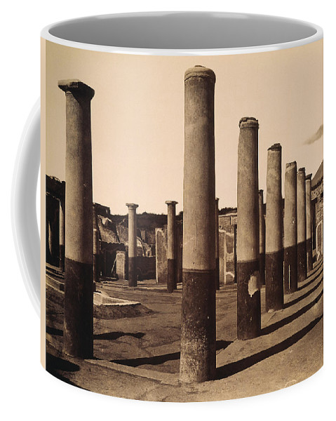 1880 Coffee Mug featuring the photograph Pompeii, Excavation by Granger