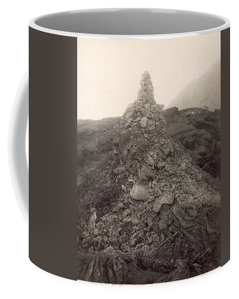 1893 Coffee Mug featuring the photograph Pompeii: Mt. Vesuvius, 1893 by Granger