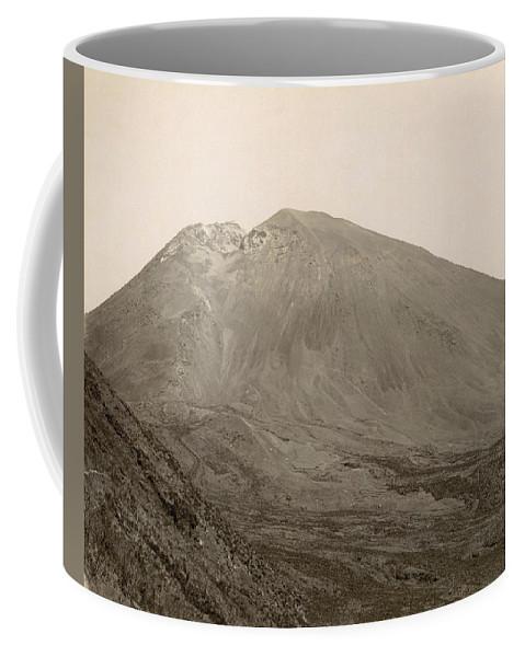 1890 Coffee Mug featuring the photograph Pompeii: Mt. Vesuvius, C1890 by Granger