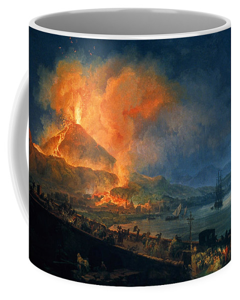 1777 Coffee Mug featuring the photograph Pompeii: Vesuvius Eruption by Granger