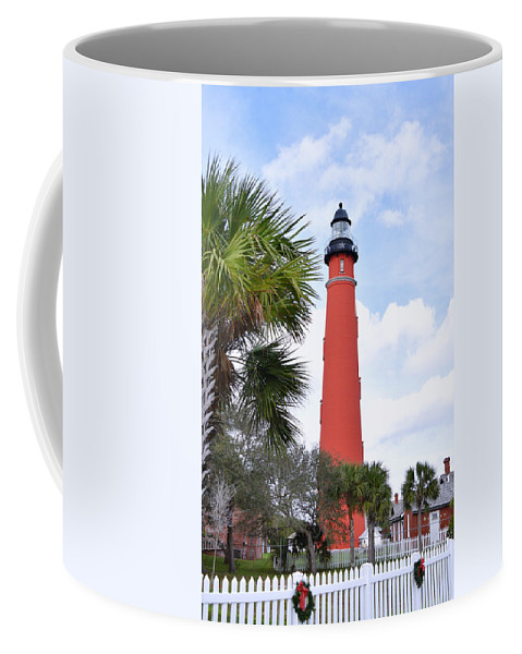 Pat Turner Coffee Mug featuring the photograph Ponce De Leon Lighthouse by Pat Turner