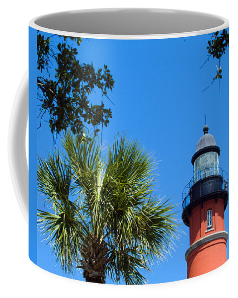 Ponce; De; Leon; Lighthouse; Light; House; Beacon; Navigation; Aid; Lens; Fresnel; Mosquito; Florida Coffee Mug featuring the photograph Ponce Del Leon Inlet Florida by Allan Hughes