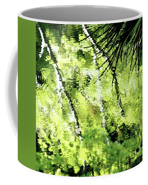 Abstracts Coffee Mug featuring the photograph Green Abstract by Dan Bernard