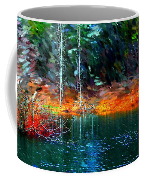 Digital Photograph Coffee Mug featuring the photograph Pond In The Woods by David Lane