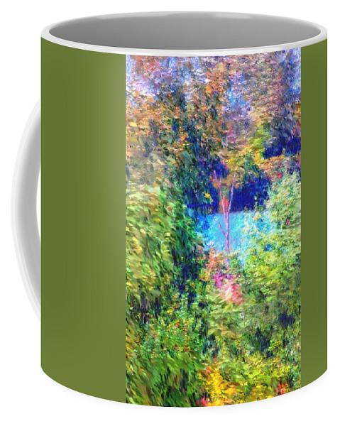 Digital Photograph Coffee Mug featuring the photograph Pond Overlook by David Lane