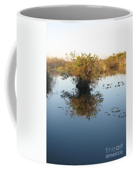 Pond Coffee Mug featuring the photograph Pond Reflection by Christiane Schulze Art And Photography