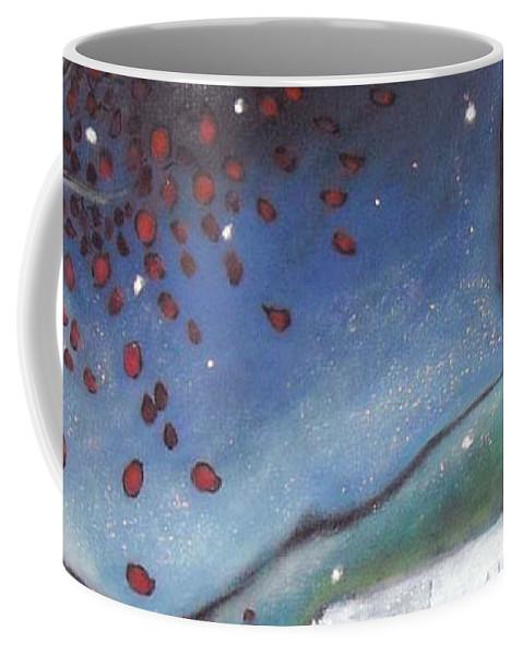 Girl Coffee Mug featuring the painting Pondering by Patti Ballard